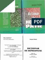 """Jacques Boulet """"Dictionar de homeopatie"""""""