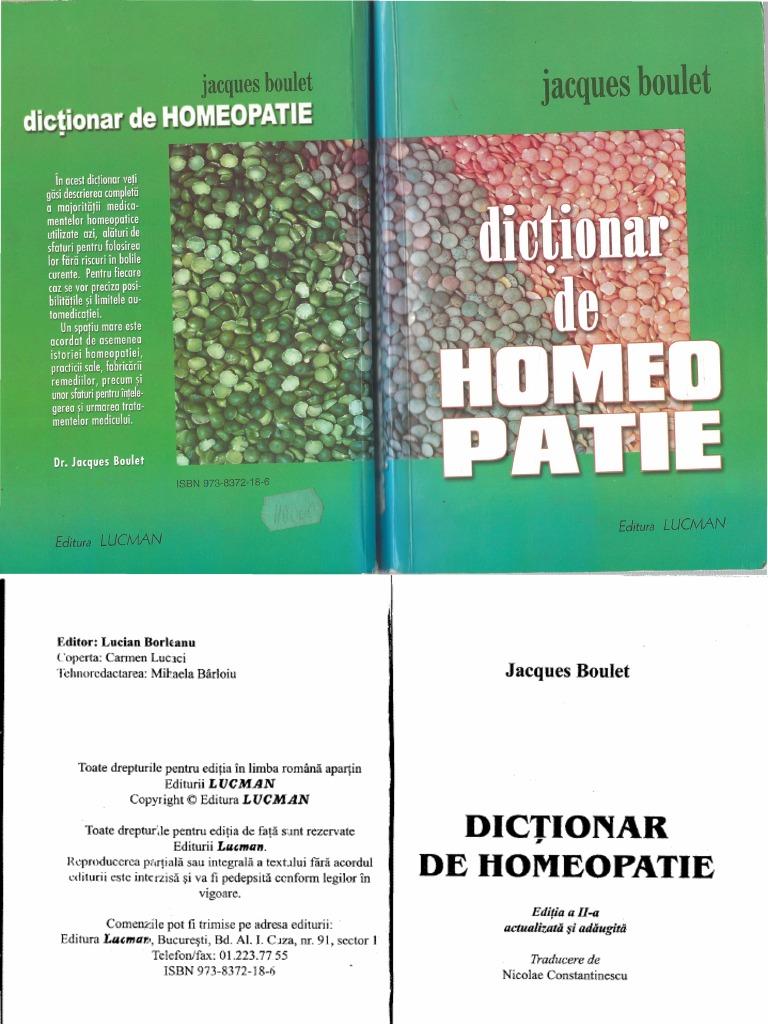 Jacques Boulet Dictionar De Homeopatie