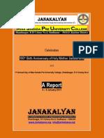 Holy Mother Sarada Jayanti - a brief report
