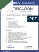 Certificacion Productos Baño