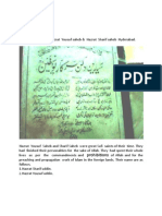 Tablet at  the shrine of Baba Yousufian Hyderabad