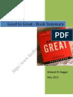 Good to Great Summary - Waleed El-Naggar
