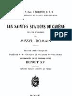 théo - Dom Schuster - Les saintes stations du Careme selon le Missel romain