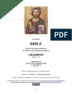 théo - le chamoine Augustin Crampon - la sainte bible - 1923
