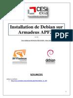 Installation de Debian sur la carte Armadeus APF28