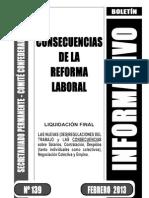 Boletín CGT nº139 - Consecuencias Reforma Laboral