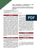 Atividade Leishmanicida, Composição e Citotoxidade do  Óleo Guatteria
