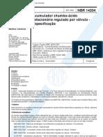 nbr 14204 - acumulador chumbo-acido estacionario regulado por valvula - especificacao.pdf