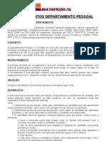 PROCEDIMENTOS DEPARTAMENTO PESSOAL LINEAR CONSTRUÇÕES