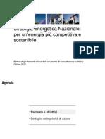 Presentazione strategia energetica