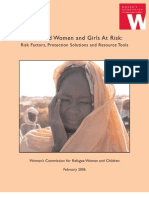 Displaced women and girls at risk