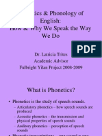PHONETICS AND PHONOLOGY IN ENGLISH