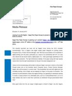 Sappi Press Release - Digital paper Jaz Book