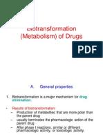 biotransformation of drugs