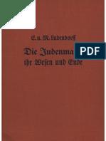 Ludendorff, Erich Und Mathilde - Die Judenmacht-Ihr Wesen Und Ende; Ludendorffs Verlag, 1939,
