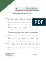 Guatemala Hoy 2013-01-30