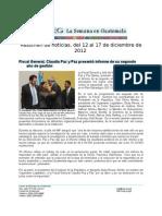 La Semana en Guatemala 2012/12/12-17
