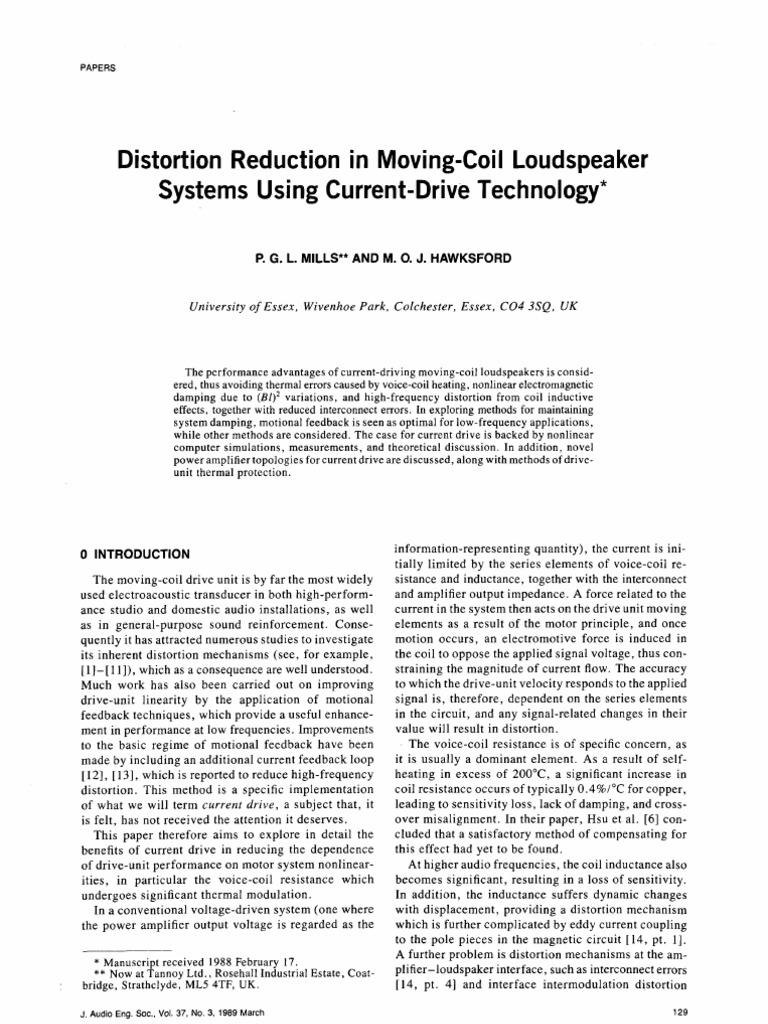 J12 Distortion Reduction MC Current Drive | Amplifier | Loudspeaker
