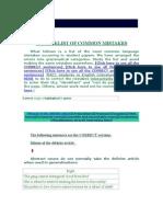 COMMON MISTAKES-English language