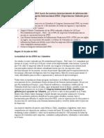 Colombia avanza en 2011 hacia las normas internacionales de información financiera con el Congreso Internacional IFRS.docx