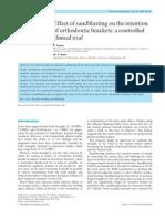 effects of sandblasting on retention of orthodontic brackets