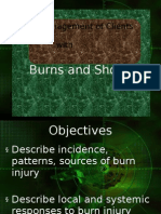 management of clients with burns and shock