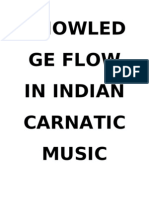 Knowledge Flow in Indian Classical Music