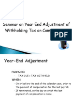Year-End Adjustment New