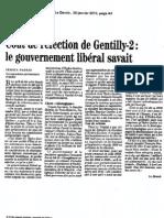 Coût de réfection de Gentilly-2, le gouvernement libéral savait - 2013-01-31 - Le Devoir