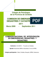 Comision de Emerg. Des. y Cat.
