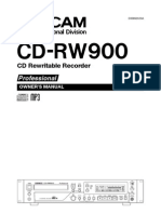 Tascam CDRW900 Instruction Manual