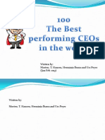 100 Best performing CEOs in the world