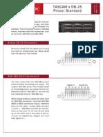 Tascam DB-25 Analog & AESEBU pinout
