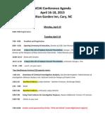2013 nciai conference agenda