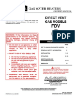 FDV Direct Vent Owners Manual