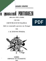 A Indústria Portuguesa, séculos XII a XIX, por Esteves Pereira