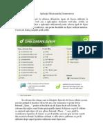 Aplicaţia Macromedia Deamweaver