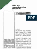 maillage d'éléments finis pour les ouvrages de géotechnique conseils et recommandations