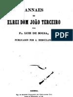 Anais de el-rei D. João III, por Frei Luís de Sousa