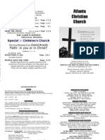 January 27, 2013 Church Bulletin
