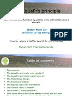 AquaPro Background Information
