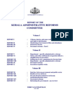 Kerala Administrative Reforms Commission Report 2001