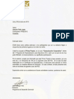 Certificado PEE Comunicación Corporativa ESAN