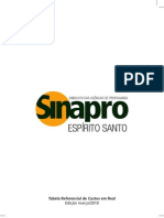 Tabela de Custos Sinapro 2010