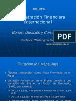 Bonos DuracionConvexidad