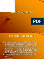 anti-coagulant drugs
