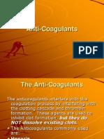 anti-coagulant drugs