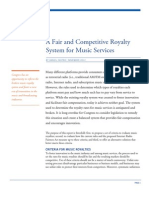 A Fair and Competitive Royalty System for Music Services