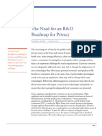 The Need for an R&D Roadmap for Privacy