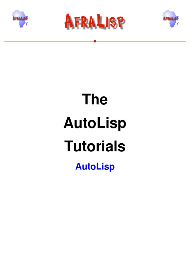 AutoLisp | Auto Cad | Areas Of Computer Science